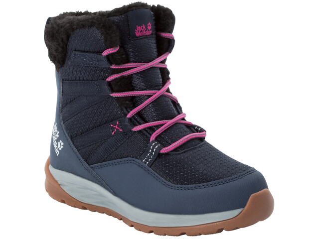 Jack Wolfskin Polar Wolf Texapore Chaussures D'Hiver Montantes Enfant, dark blue/grey